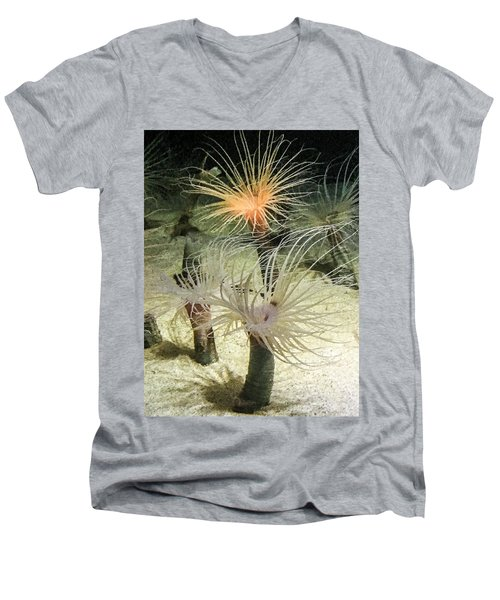 Sea Flower Men's V-Neck T-Shirt