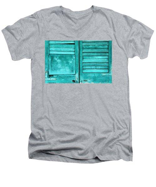 Sea Foam Shutters Men's V-Neck T-Shirt