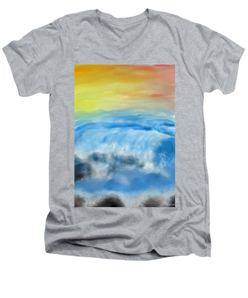 Sea Foam Men's V-Neck T-Shirt