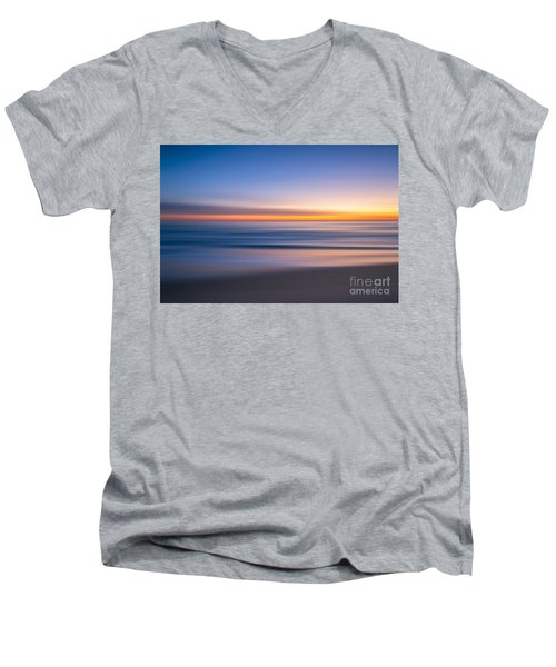 Sea Girt New Jersey Abstract Seascape Sunrise Men's V-Neck T-Shirt