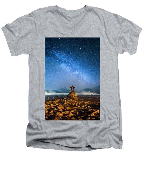 Sea Goddess Statue, Bali Men's V-Neck T-Shirt