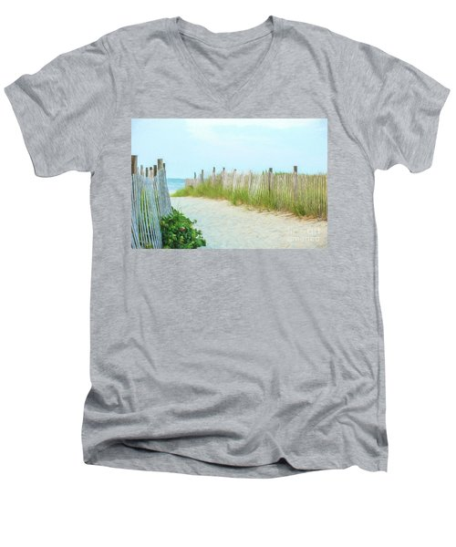 Sea Gull Beach #1 Men's V-Neck T-Shirt