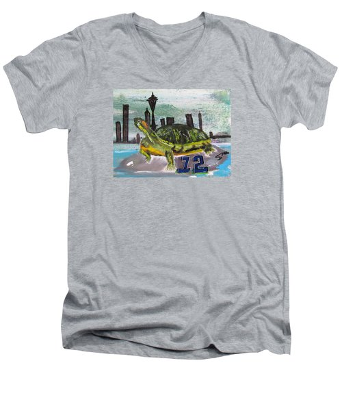 Sea Hawks Go Men's V-Neck T-Shirt