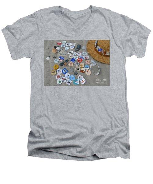 Sea Isle City Beach Tags Men's V-Neck T-Shirt