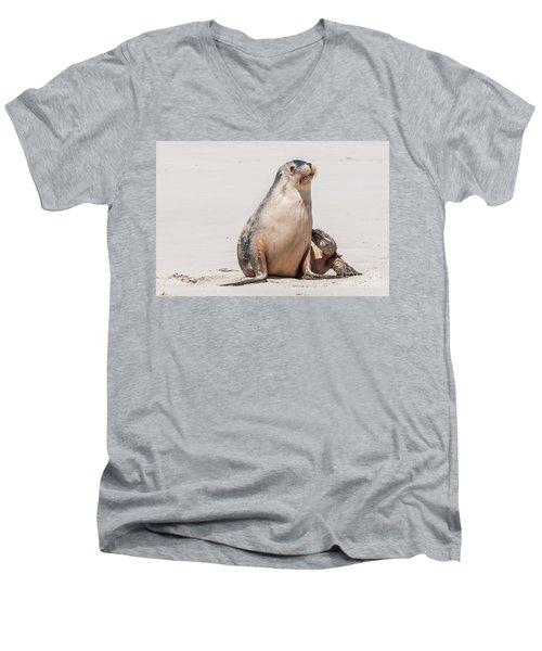 Sea Lion 1 Men's V-Neck T-Shirt by Werner Padarin