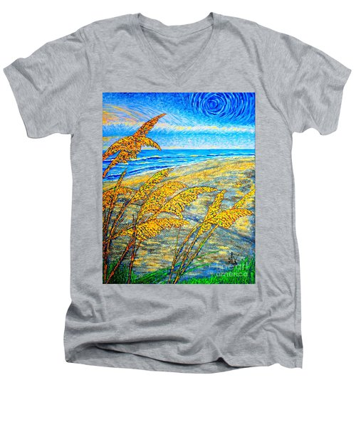 Sea Oats Dual#2 Men's V-Neck T-Shirt