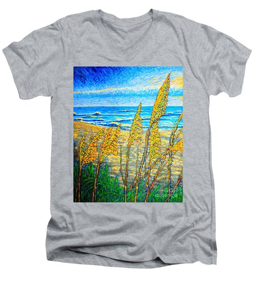 Sea Oat,dual #1 Men's V-Neck T-Shirt