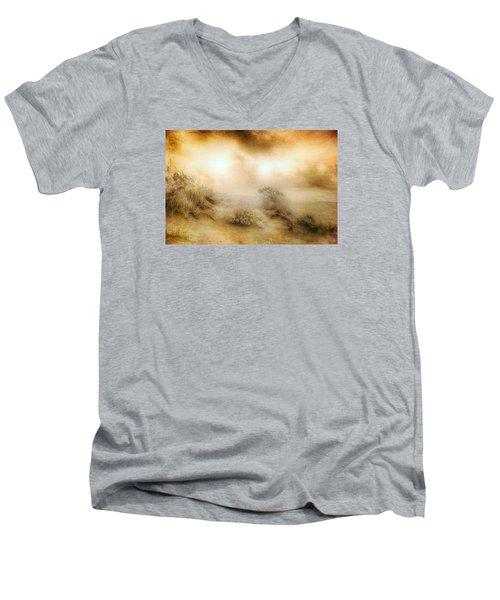 Sea Oats In Paradise Men's V-Neck T-Shirt by Dan Carmichael