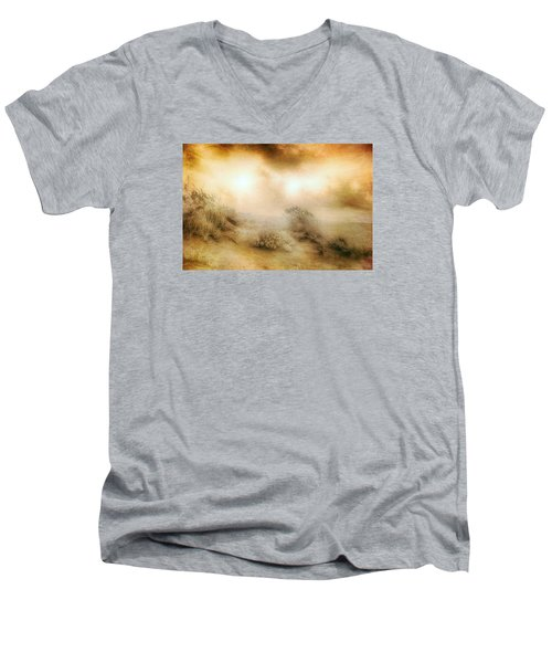 Sea Oats In Paradise Men's V-Neck T-Shirt