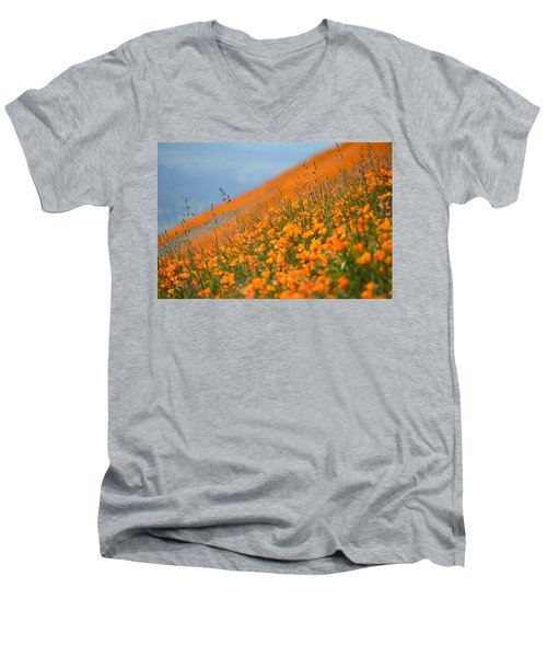 Sea Of Poppies Men's V-Neck T-Shirt by Kyle Hanson