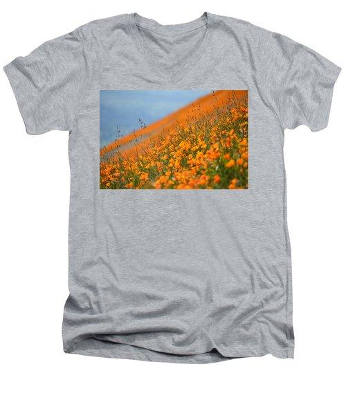 Sea Of Poppies Men's V-Neck T-Shirt