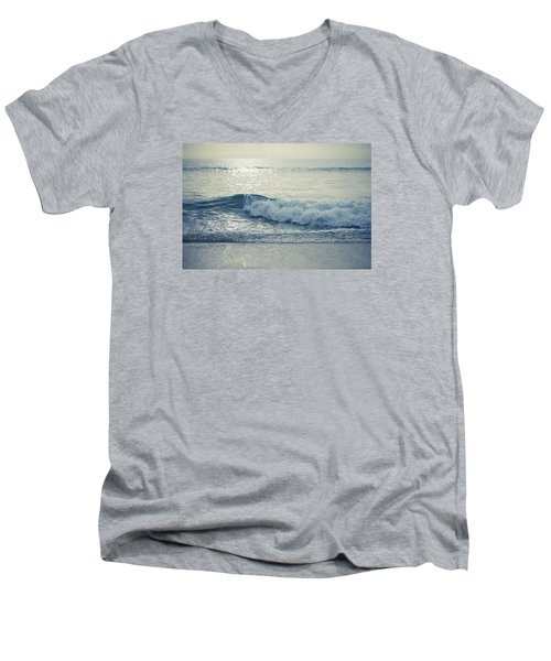 Men's V-Neck T-Shirt featuring the photograph Sea Of Possibilities by Laura Fasulo