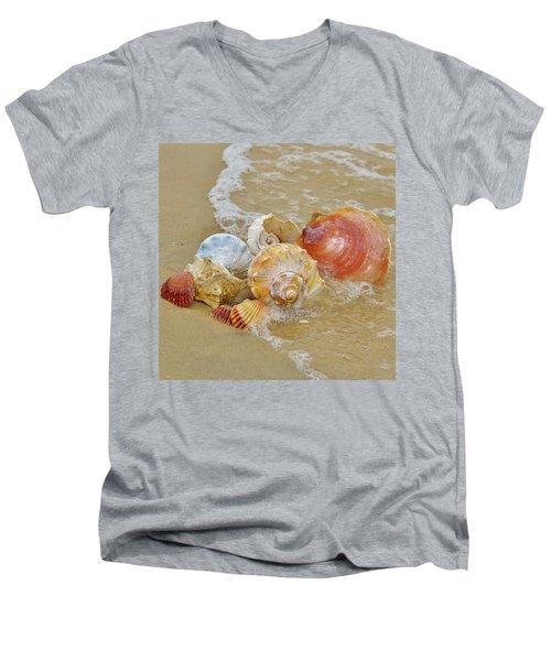 Sea Shells Men's V-Neck T-Shirt