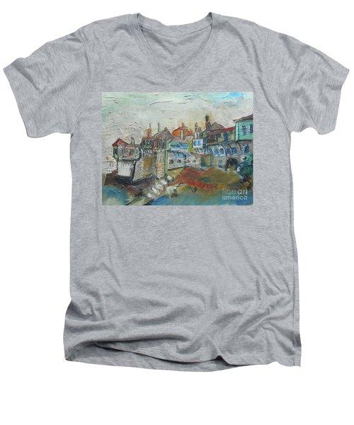 Sea Shore Village Men's V-Neck T-Shirt