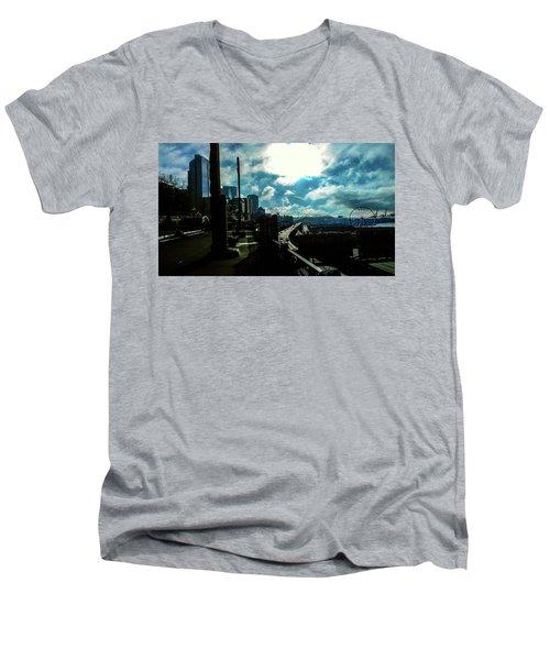 Sea Side, Seattle  Men's V-Neck T-Shirt