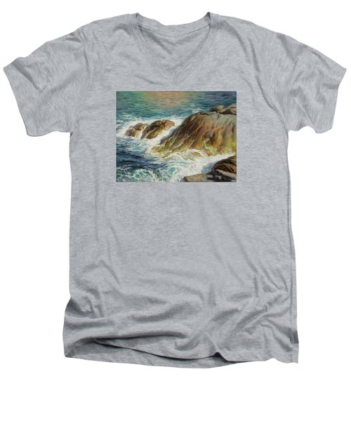 Sea Symphony. Part 2. Men's V-Neck T-Shirt