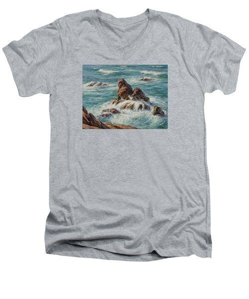 Sea Symphony. Part 3. Men's V-Neck T-Shirt
