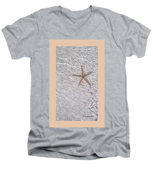 Sea Star 11 Anna Maria Island Men's V-Neck T-Shirt by Jean Marie Maggi