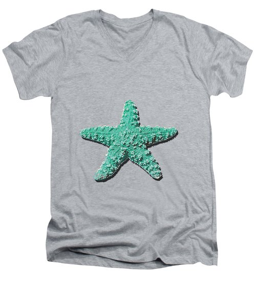 Sea Star Aqua .png Men's V-Neck T-Shirt