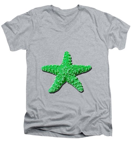 Sea Star Green .png Men's V-Neck T-Shirt