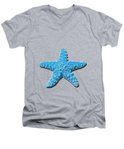Sea Star Light Blue .png Men's V-Neck T-Shirt by Al Powell Photography USA