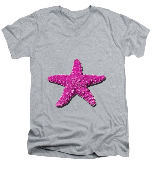 Sea Star Pink .png Men's V-Neck T-Shirt by Al Powell Photography USA
