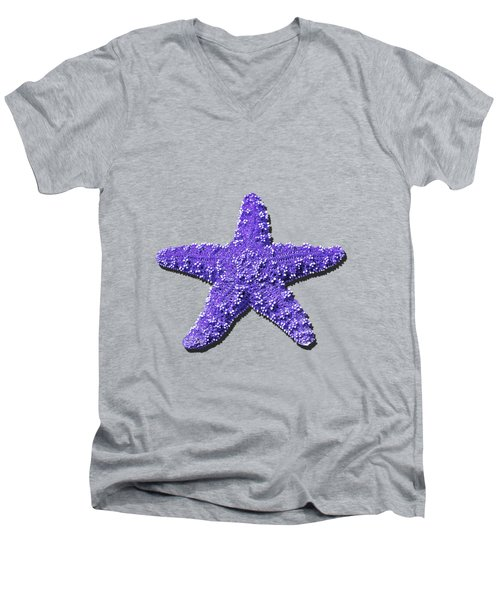 Sea Star Purple .png Men's V-Neck T-Shirt