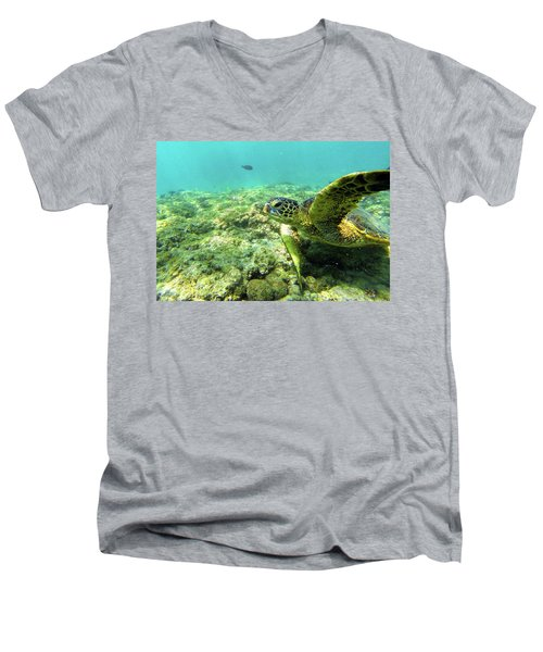 Men's V-Neck T-Shirt featuring the photograph Sea Turtle #2 by Anthony Jones