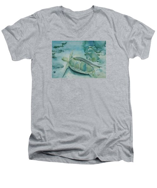 Sea Turtle And Friend Men's V-Neck T-Shirt
