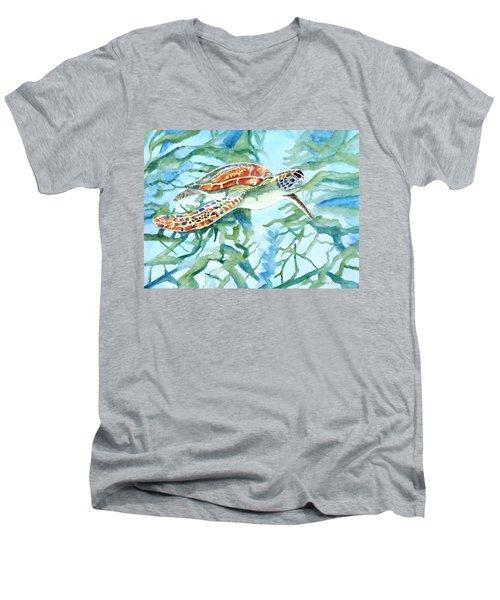 Sea Turtle Series #1 Men's V-Neck T-Shirt