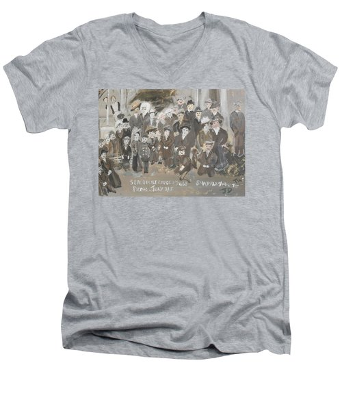 Seacombe Picnic Men's V-Neck T-Shirt by Judith Desrosiers