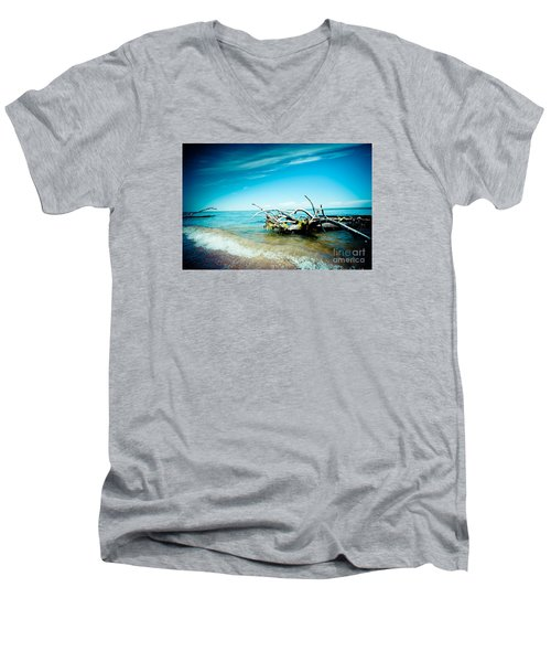 Seacost With Old Tree In Water Kolka Men's V-Neck T-Shirt
