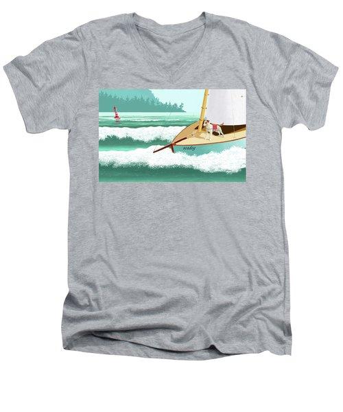 Seadog Men's V-Neck T-Shirt