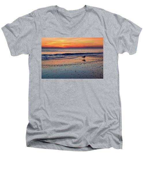 Seagull At Sunrise Men's V-Neck T-Shirt