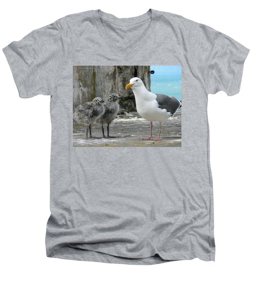 Seagull Family Men's V-Neck T-Shirt