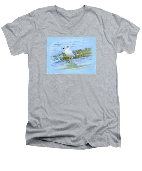 Seagull Men's V-Neck T-Shirt by Nina Bradica