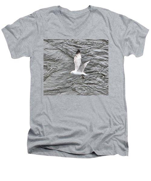 Seagull Sea Men's V-Neck T-Shirt by Yury Bashkin