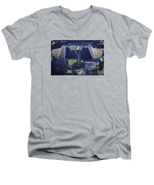 Seahawk Stadium Men's V-Neck T-Shirt