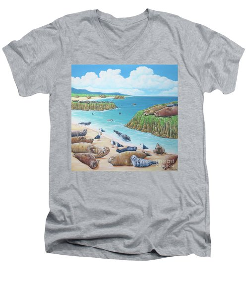 Seal Sanctuary  Men's V-Neck T-Shirt