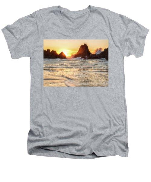 Seal Rock  Men's V-Neck T-Shirt