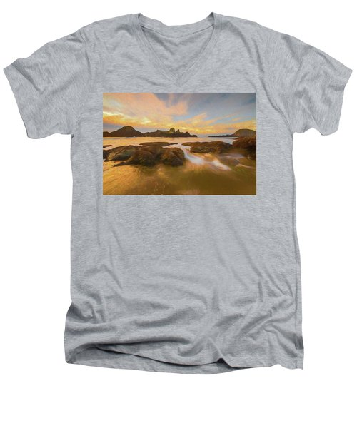 Seal Rock Sunset Men's V-Neck T-Shirt