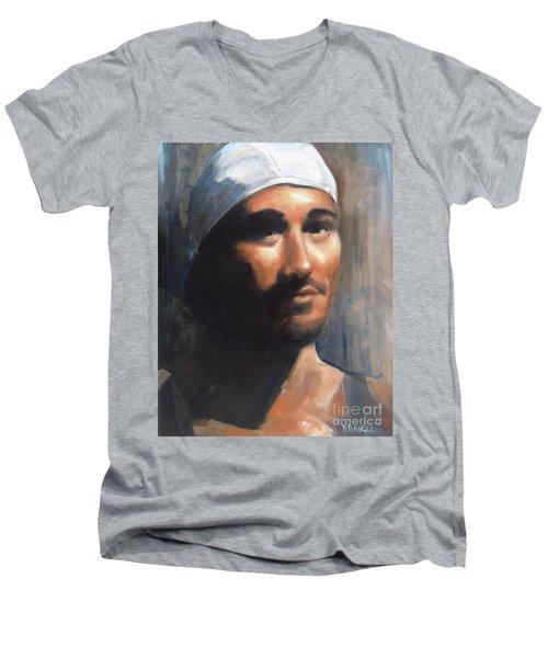 Sean Men's V-Neck T-Shirt by Diane Daigle