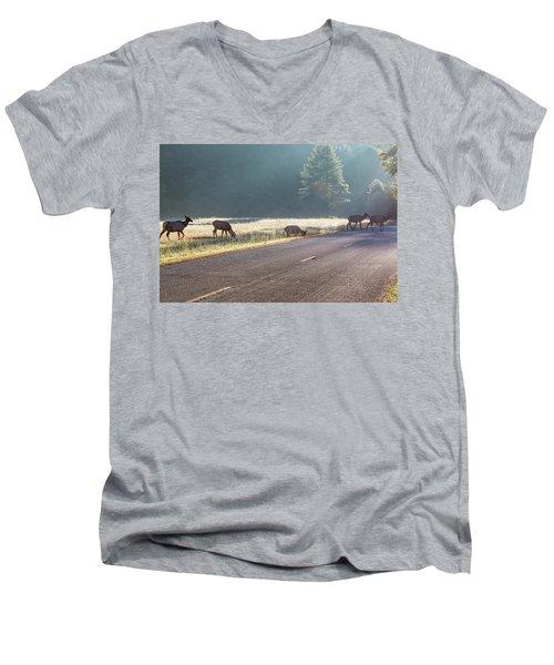 Searching For Greener Grass Men's V-Neck T-Shirt