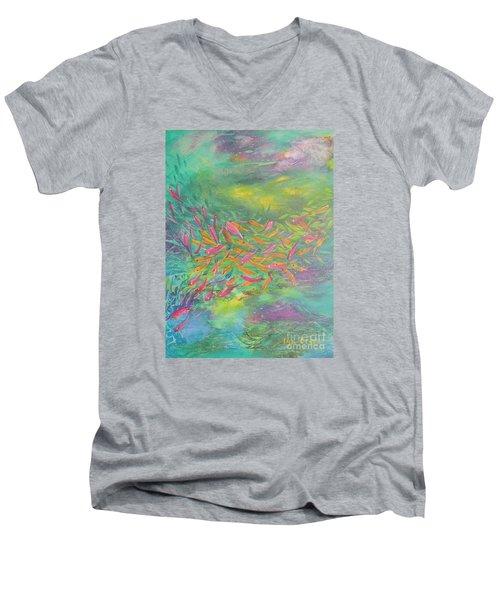 Searching Men's V-Neck T-Shirt by Lyn Olsen