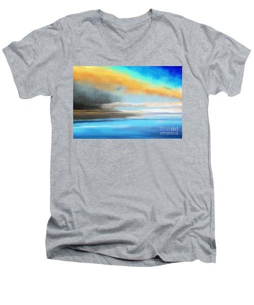 Seascape Painting Men's V-Neck T-Shirt