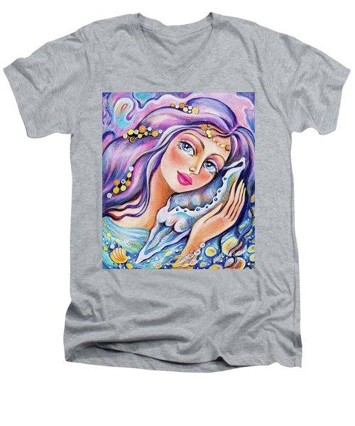 Seashell Reverie Men's V-Neck T-Shirt