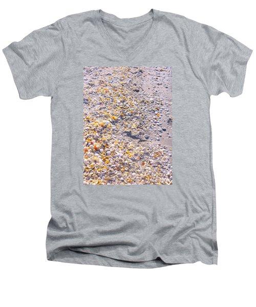 Seashells In Sanibel Island, Florida Men's V-Neck T-Shirt