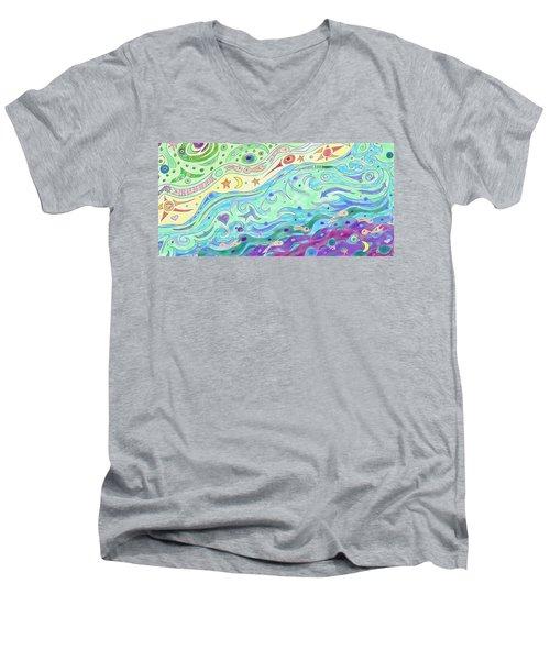 Seashore Men's V-Neck T-Shirt