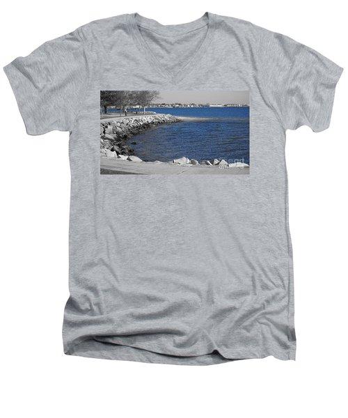 Seaside Blue Men's V-Neck T-Shirt