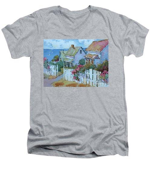 Seaside Cottages Men's V-Neck T-Shirt